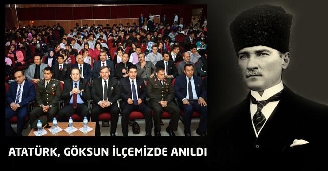 Atatürk, Göksun İlçemizde Anıldı