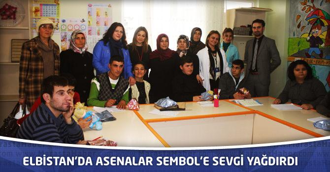 Elbistan'da Asenalar Sembol'e Sevgi Yağdırdı