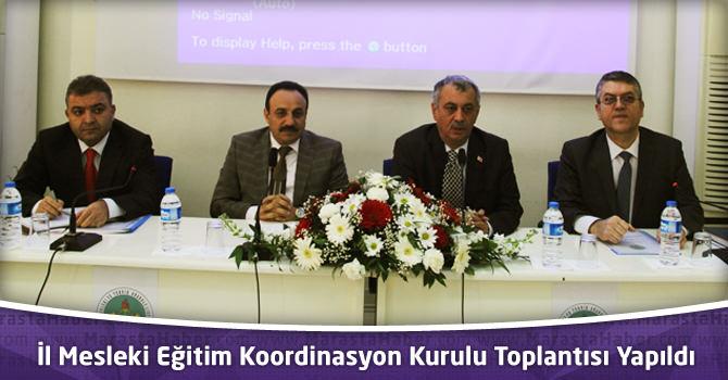 Mesleki Eğitim Koordinasyon Kurulu Toplantısı Yapıldı