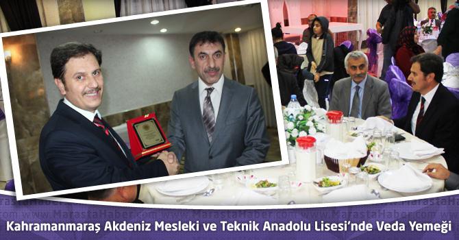 Kahramanmaraş Akdeniz Mesleki ve Teknik Anadolu Lisesi'nde Veda Yemeği