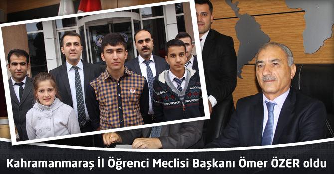 Kahramanmaraş İl Öğrenci Meclisi Başkanı Ömer ÖZER oldu