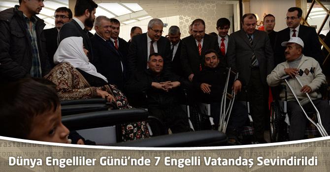 3 Aralık Dünya Engelliler Günü'nde 7 Engelli Vatandaş Sevindirildi