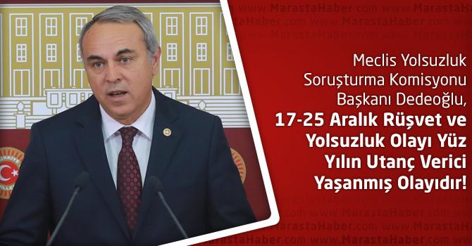 Dedeoğlu, 17-25 Aralık Rüşvet Ve Yolsuzluk Olayı ile İlgili Basın Toplantısı Yaptı