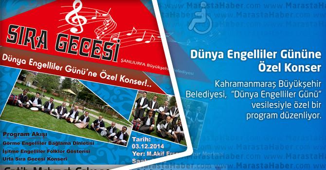 Dünya Engelliler Gününe Özel Konser