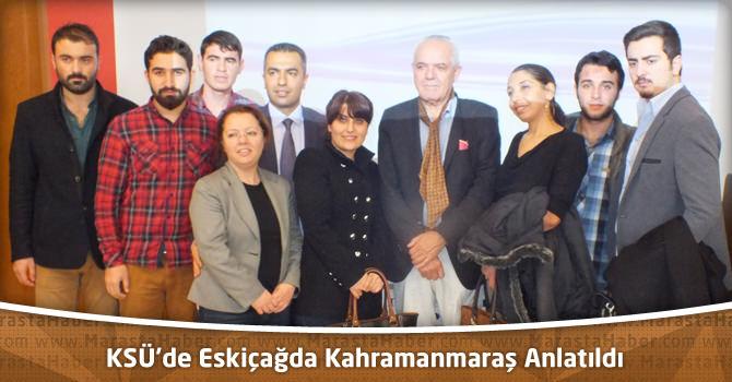 KSÜ'de Eskiçağda Kahramanmaraş Anlatıldı
