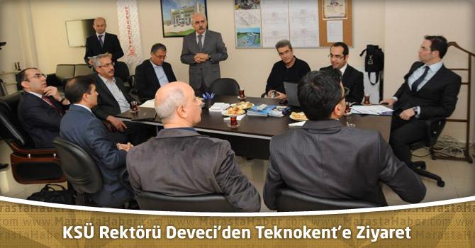 KSÜ Rektörü Deveci'den Teknokent'e Ziyaret