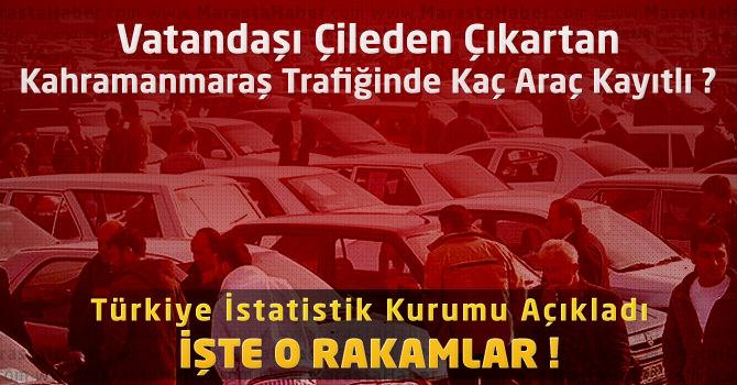 Türkiye İstatistik Kurumu Açıkladı : Kahramanmaraş'ta Kaç Araç Var ?