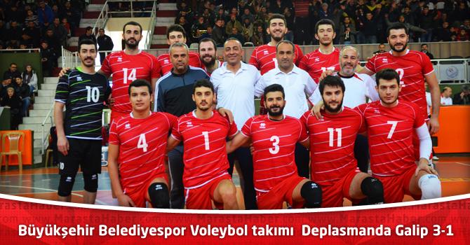 Büyükşehir Belediyespor Voleybol takımı deplasmanda Galip 3-1