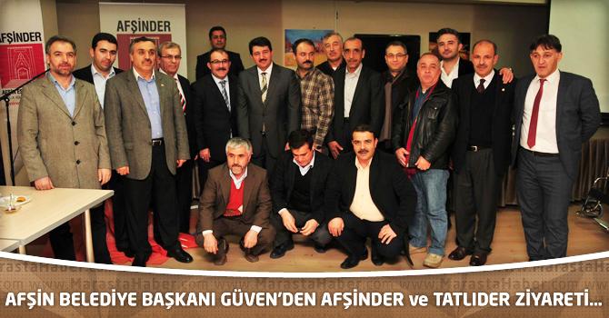 Afşin Belediye Başkanı Güven'den Afşinder Ve Tatlıder Ziyareti…