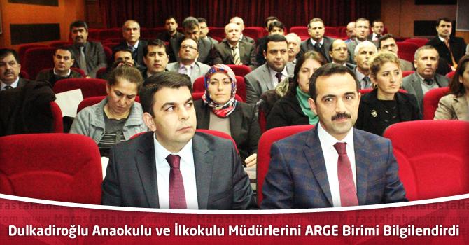 Dulkadiroğlu Anaokulu ve İlkokulu Müdürlerini ARGE Birimi Bilgilendirdi