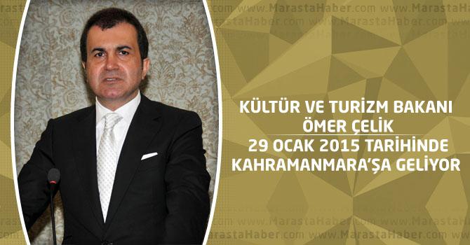 Kültür Ve Turizm Bakanı Ömer Çelik 29 Ocak'ta Kahramanmaraş'a geliyor