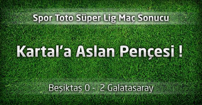 Beşiktaş 0 – Galatasaray 2 Maç geniş özeti ve maçın golleri