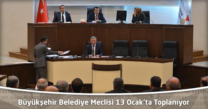 Kahramanmaraş Büyükşehir Belediye Meclisi 13 Ocak'ta Toplanıyor