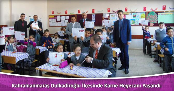 Kahramanmaraş Dulkadiroğlu İlçesinde Karne Heyecanı Yaşandı.