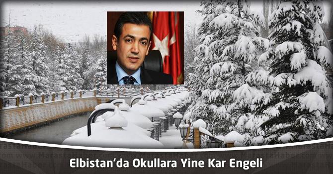 Elbistan'da Okullara Yine Kar Engeli