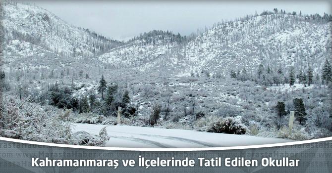 Kahramanmaraş ve İlçelerinde Tatil Edilen Okullar