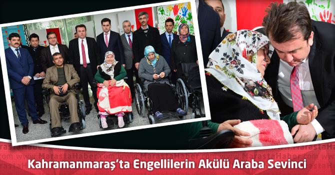 Kahramanmaraş'ta Engellilerin Akülü Araba Sevinci