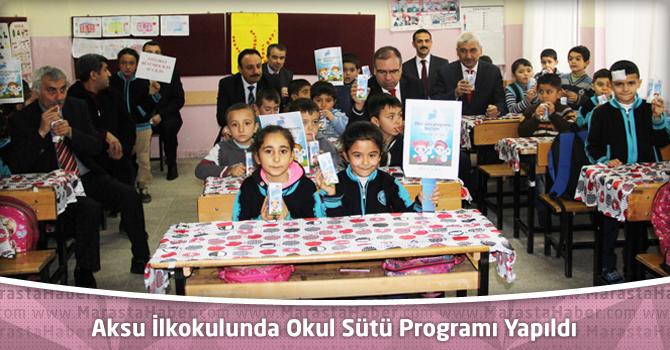 Aksu İlkokulunda Okul Sütü Programı Yapıldı