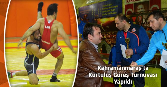 Kahramanmaraş'ta Kurtuluş Güreş Turnuvası Yapıldı