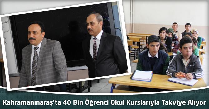 Kahramanmaraş'ta 40 Bin Öğrenci Okul Kurslarıyla Takviye Alıyor