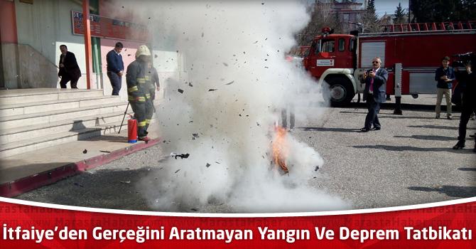 Kahramanmaraş İtfaiyesi'nden Gerçeğini Aratmayan Yangın Ve Deprem Tatbikatı