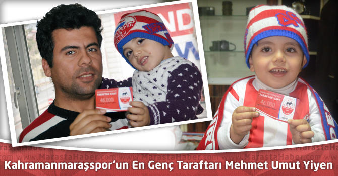 Kahramanmaraşspor'un En Genç Taraftarı Mehmet Umut Yiyen Taraftar Kartını Aldı