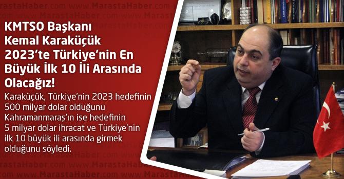 Karaküçük 2023'te Türkiye'nin En Büyük İlk 10 İli Arasında Olacağız!