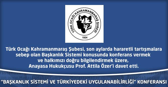 """""""Başkanlık Sistemi Ve Türkiye'deki Uygulanabilirliği"""" Konferansı"""