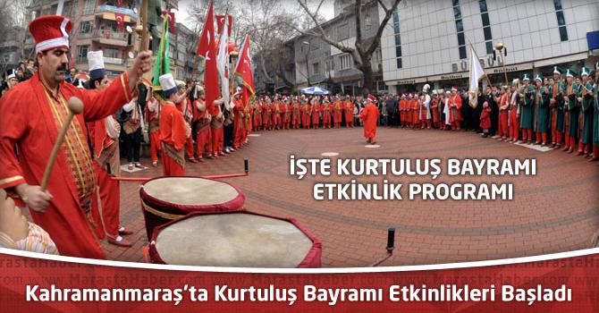 Kahramanmaraş'ta Kurtuluş Bayramı Etkinlikleri Başladı