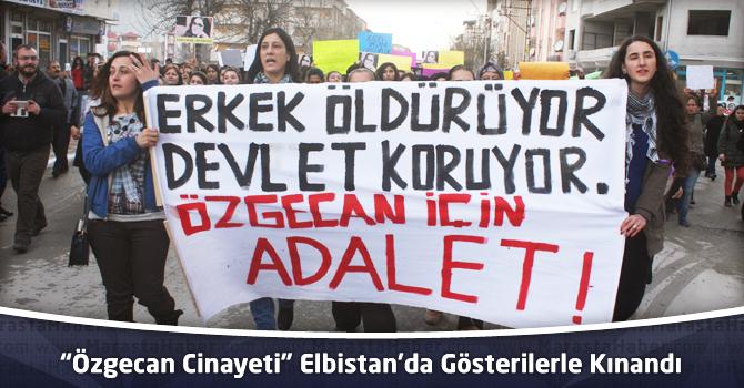 """""""Özgecan Cinayeti"""" Elbistan'da Gösterilerle Kınandı"""