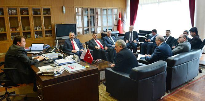 Muhasebeciler Heyetinden Başkan Erkoç'a Ziyaret