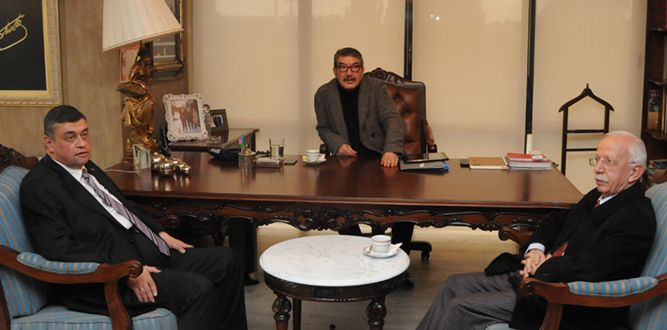Arıkan'dan KMTSO Onursal Başkanı Balduk'a Ziyaret