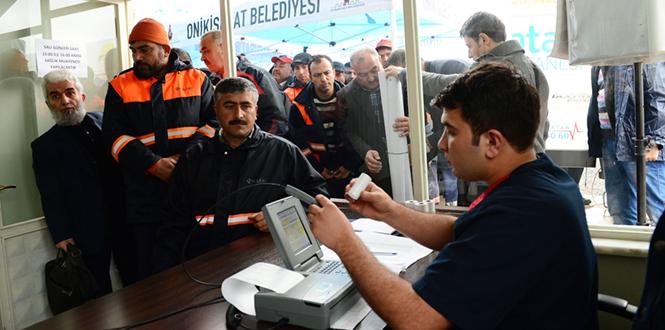 Kahramanmaraş'ta Temizlik Personeline Sağlık Taraması