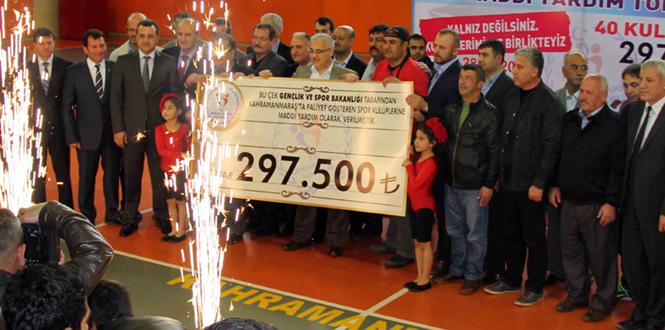 Kahramanmaraş'ta Amatör Spor Kulüpleri Maddi Yardım Yapıldı
