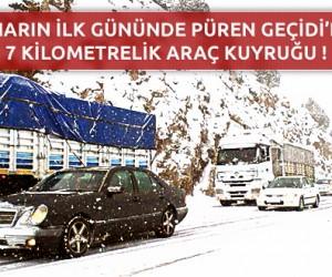 Kahramanmaraş Püren Geçidi'nde 7 Kilometrelik Araç Kuyruğu