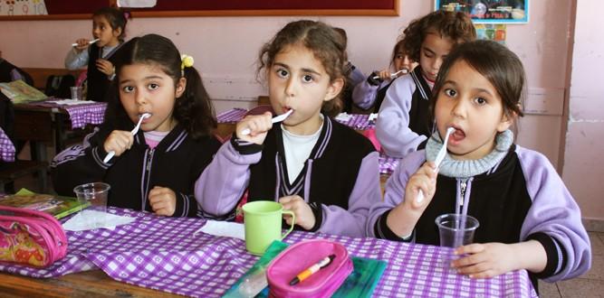 Üngüt İlkokulu'nda Flor Jel Uygulaması