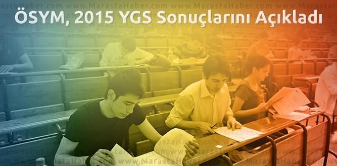 ÖSYM, 2015 YGS Sonuçlarını Açıkladı