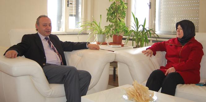Reyhanlıoğlu'ndan KGC Başkanı Sayın'a Ziyaret