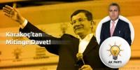 Karakoç'tan Başbakan Davutoğlu'nun Kahramanmaraş Mitingine Davet