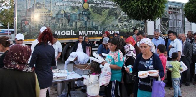 Kahramanmaraş Büyükşehir'den Nurhak'ta İftar