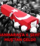 Kahramanmaraş'a Muş'tan Şehit Ateşi !