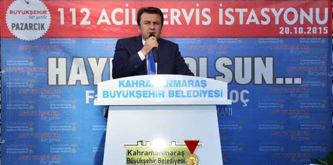 Büyükşehir'den Pazarcık'a 112 Acil Servis İstasyonu