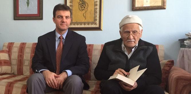 İl Sağlık Müdürü Coşkun'dan Şair Karakoç'a Ziyaret