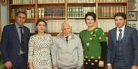 Azeri Şairler Bahaettin Karakoç'u Evinde Ziyaret ettiler