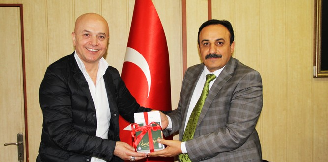 NLP Uzmanı Ömer Çam Millî Eğitim Müdürü M.Emin Akkurt'u Ziyaret Etti