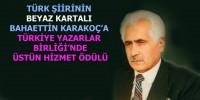 Şair Bahaettin Karakoç'a Üstün Hizmet Ödülü