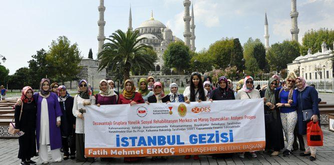 Bayan Kursiyerlere İstanbul Gezdirildi