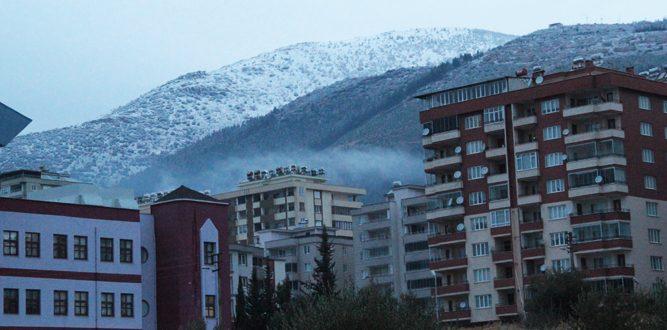 Kahramanmaraş'ta İlk Kar Yağdı