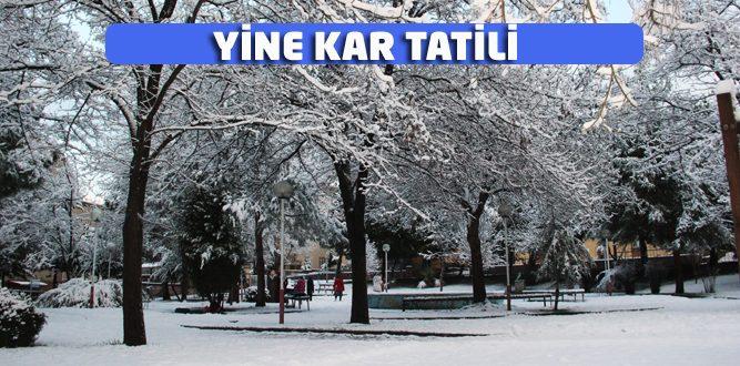 11 Ocak'ta kar tatili var