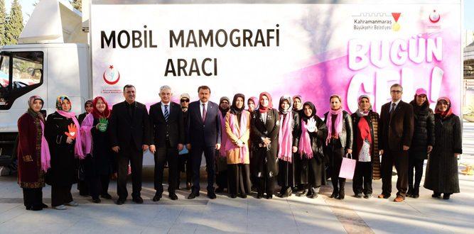 Erkoç,Mobil Mamografi Aracını Teslim Etti